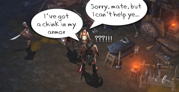 Diablo 3 Blacksmith will not repair items