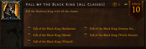 Diablo 3 Beta: Fall of the Black King Achievement
