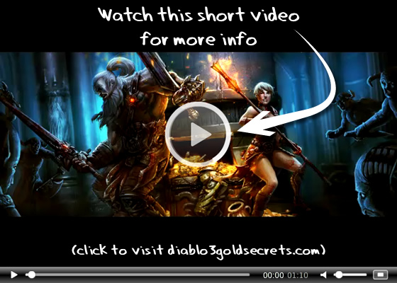 Diablo 3 Gold Secrets Video