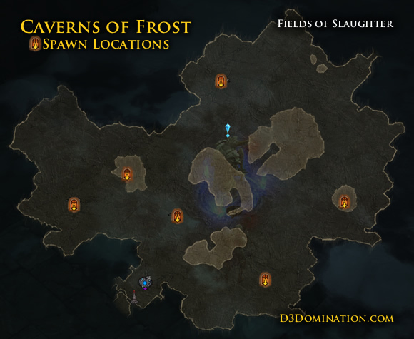 Caverns of Frost Spawn Locations in Fields of Slaughter