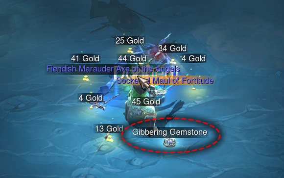 Gibbering Gemstone in Caverns of Frost