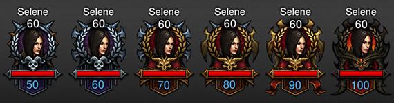Diablo 3 Paragon Level Player Portraits