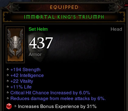 Immortal King's Triumph with Socketed Ruby