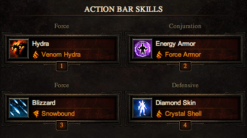 Wizard Action Bar Skills - High Damage, High Regen Build