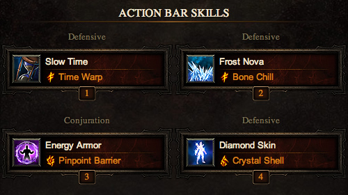 Melee Wizard Action Bar Skills