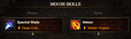 Melee Wizard Mouse Skills