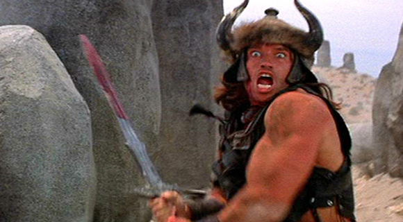 Conan the Barbarian Swinging Bloody Sword