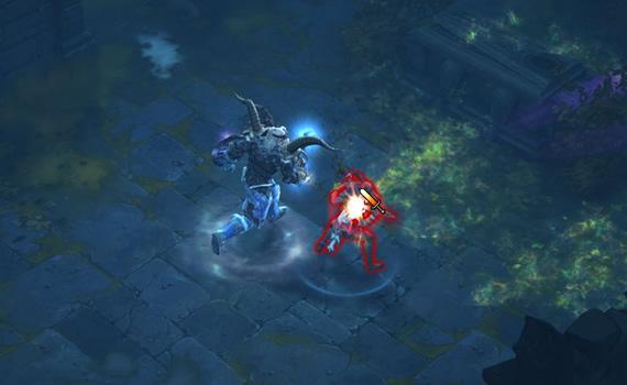 Barbarian Ambushing a Demon Hunter