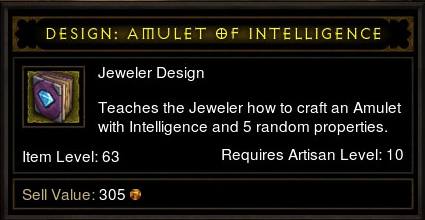 Design: Amulet of Intelligence