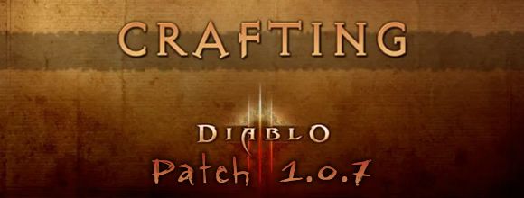 Diablo 3 Patch 1.0.7 Crafting