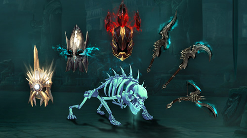 Diablo 3 Reaper of Souls Spectral Hound Pet & Transmog Items