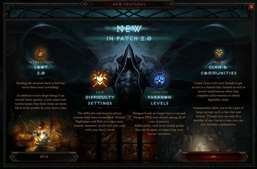 Diablo 3 Patch 2.0 Highlights