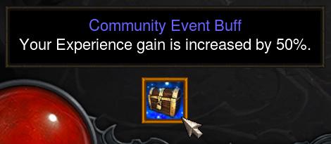 Diablo 3 Community Event Experience Buff
