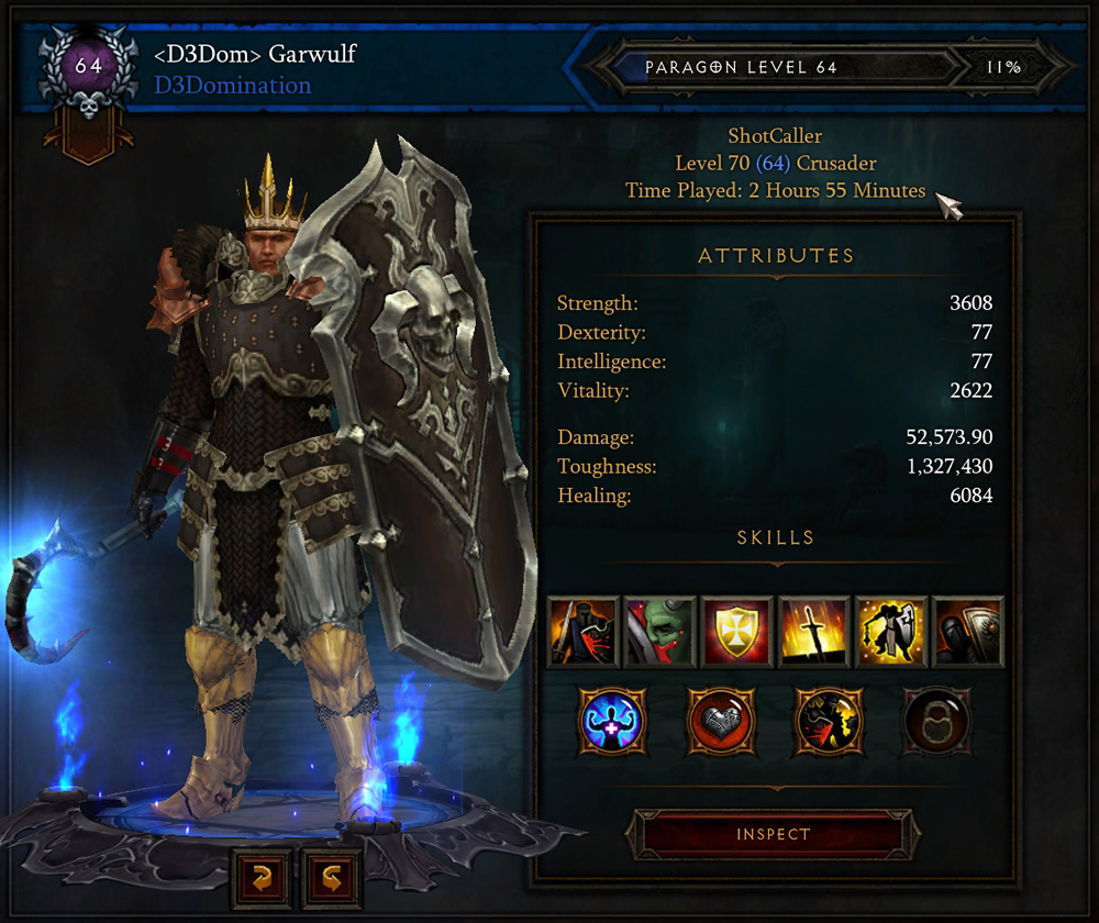 Diablo 3 Crusader to Level 70 in Under 3 Hours
