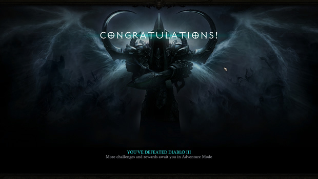 I Won in Reaper of Souls!