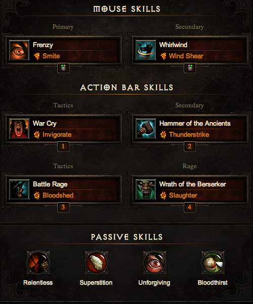 Barbarian Torment Farming Build