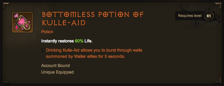 Legendary Bottomless Potion of Kulle-Aid