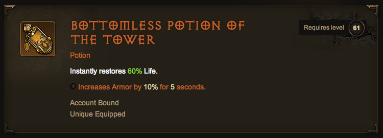 Legendary Bottomless Potion of the Tower