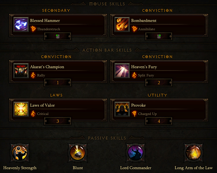 Crusader Build Cooldown Management