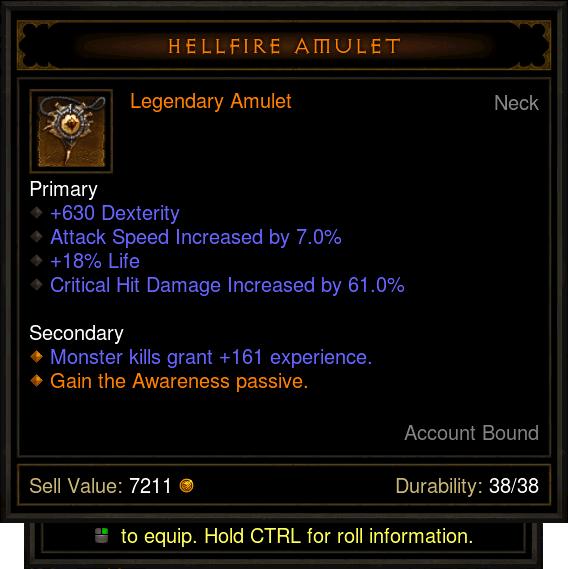 Hellfire Amulet