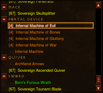 Infernal Machine Crafting